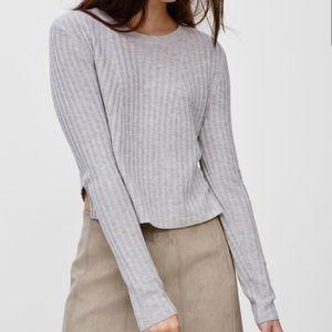 Babaton Nathaniel Cropped Sweater light Grey   XS